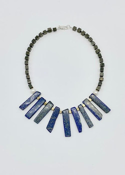 #1040 Lapis & pyrite $195