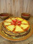 Gâteau d'omelettes du jardin