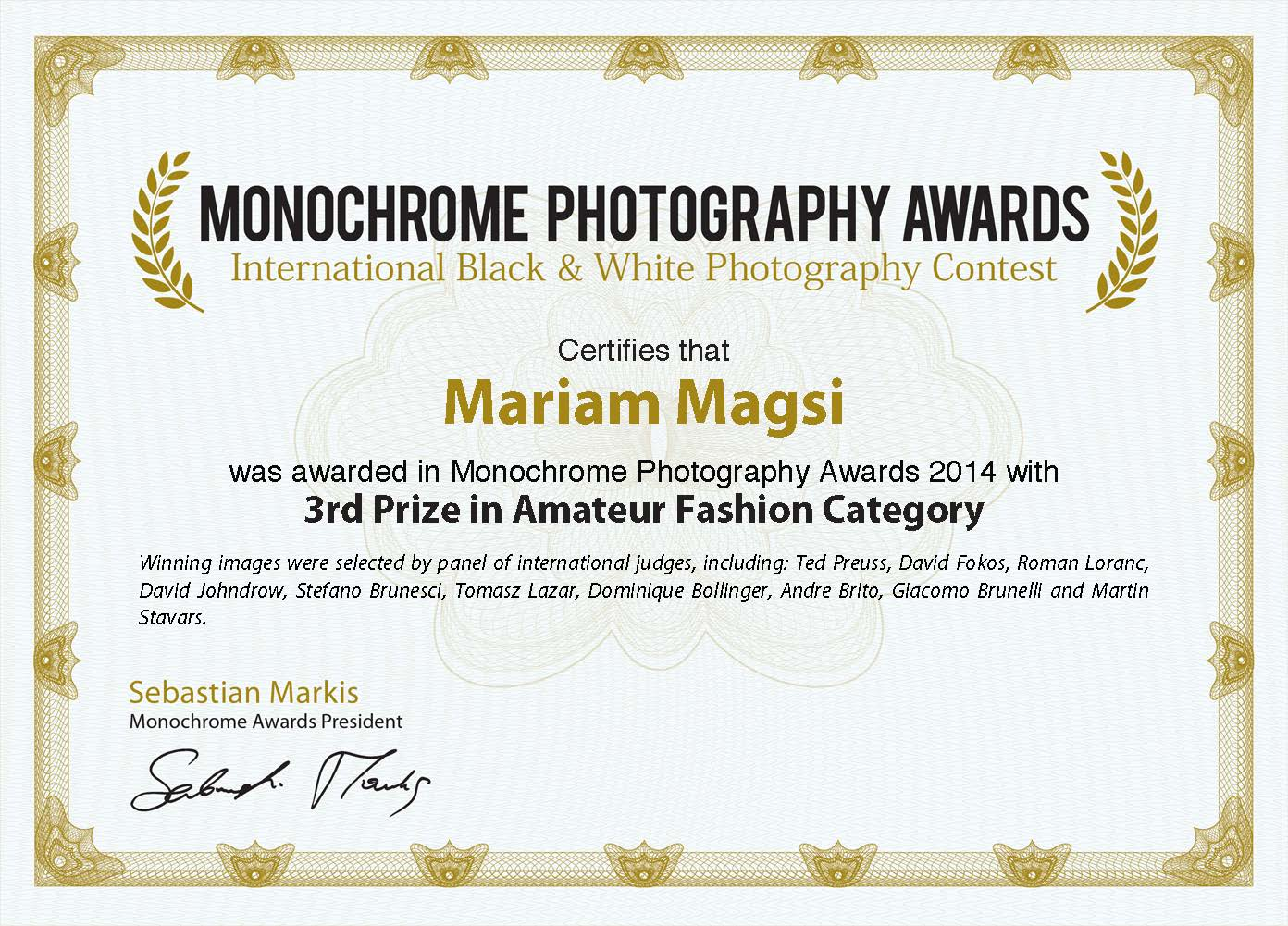 Monochrome Awards