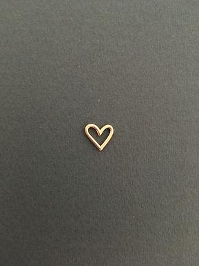 CORAÇÃO : :  Pingente de ouro 18k rosé fosco