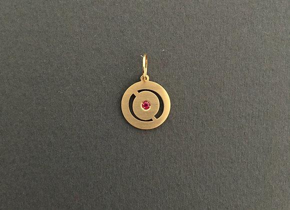 SINTONIA RUBI : : Pingente de ouro 18k e rubi