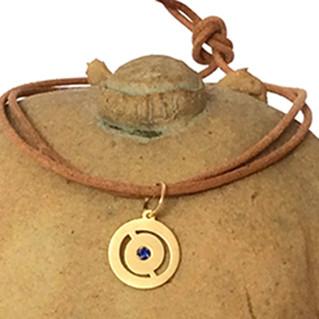 lançamento coleção sintonia  | pingente de Ouro e Pedras | Safira Esmeralda Brilhante Rubi
