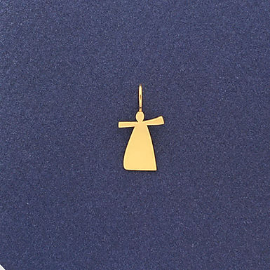MENINA : : pingente de ouro amarelo 18K
