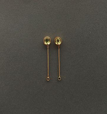 MOVIMENTO BERILO : : brincos de ouro 18K, berilos e turmalinas