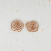 vejo flores em você | brinco de ouro rosé 18k |