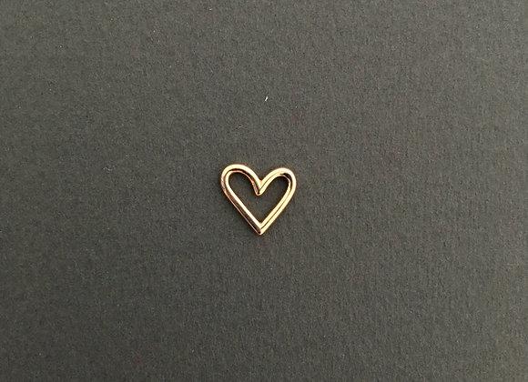 CORAÇÃO : : pingente de ouro 18k rosé polido