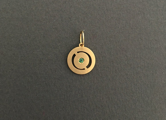 SINTONIA ESMERALDA : : Pingente de ouro 18k e esmeralda