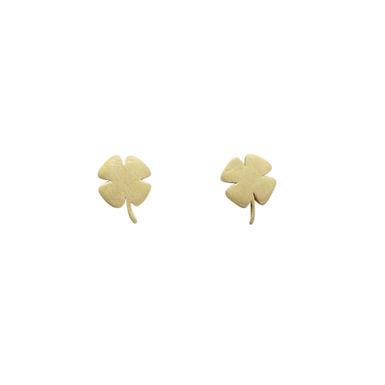 PETIT TREVO : : brincos de ouro amarelo 18K