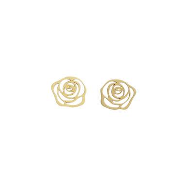 ROSA : : brincos de ouro amarelo18K