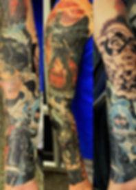 north shore tattoo studio artist adam cooley batman tattoo comic book catwoman mr freeze harley quinn tattoos