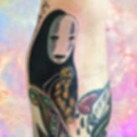 studio ghibli no face kawaii coins anime otaku fandom tattoos by by alex heart at shop 9 3/4 Auckland North Shore tattoo studio