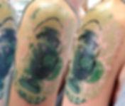 north shore tattoo studio artist adam cooley green lantern tattoo