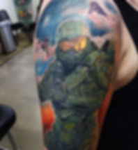 Halo Master Chief - Gaming tattoo