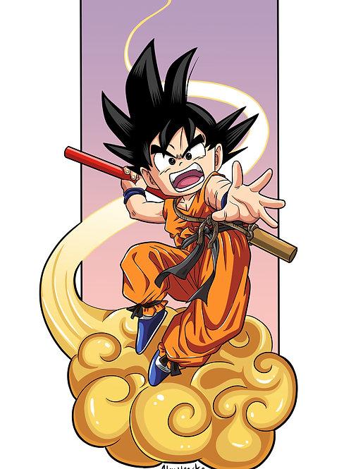 Kid Goku Art Print by Alex Heart