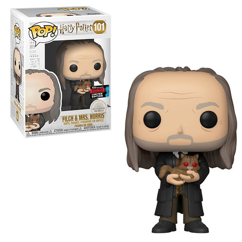 Harry Potter - Filch With Mrs Norris Yule Ball Pop! Vinyl