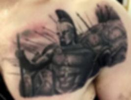 300 movie realism tattoo by north shore tattoo artist adam cooley