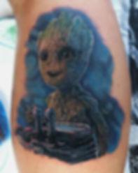 north shore tattoo studio artist adam cooley i am groot avengers marvel comic realistic guardians of the galaxy