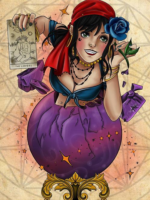 Anime Gypsy Lovers Print by Alex Heart