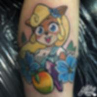 coco crash bandicoot crystal wampa fruit gaming gamer ink tattoos colour by alex heart at shop 9 3/4 Auckland North Shore tattoo studio