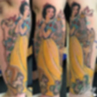 snow white disney princess castle disneyland animal tattoos by alex heart at shop 9 3/4 Auckland North Shore tattoo studio