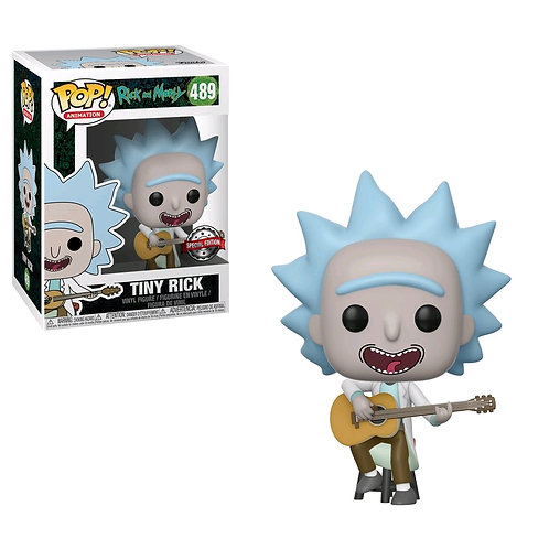 Rick and Morty - Tiny Rick with Guitar US Exclusive Pop! Vinyl