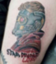 Starlord Marvel tattoo