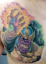 north shore tattoo studio artist adam cooley pop culture tattoos new zealand thanos infinity war avengers marvel tattoos