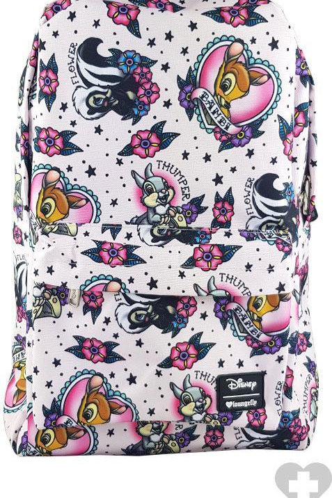 Bambi and Thumper Tattoo Print Backpack
