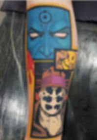 The Watchmen Comic Book Tattoo