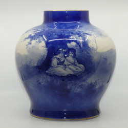 ROYAL DOULTON BLUE CHILDRENS LARGE OVOID VASE