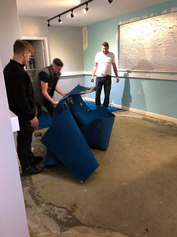 Riping Carpet Up on Skip Day (Feb 2019)