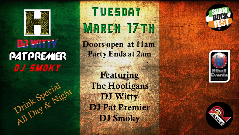 St. Patrick's Day - Tuesday March 17