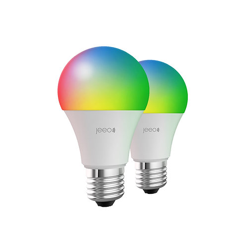 Jeeo Smart Wi-Fi LED Color Light Bulb (2-pack)
