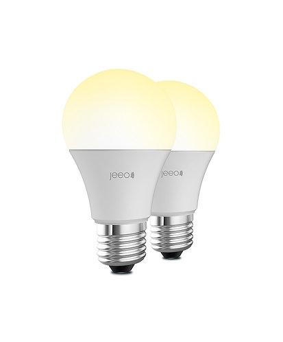 Jeeo Smart Wi-Fi LED Light Bulb (2-pack)