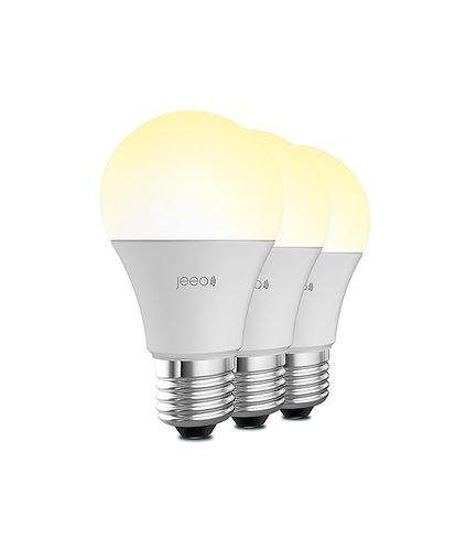 Jeeo Smart Wi-Fi LED Light Bulb (3-pack)