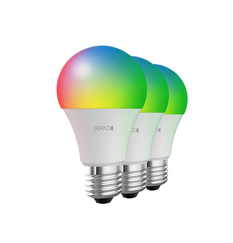 Jeeo Smart Wi-Fi LED Color Light Bulb (3-pack)