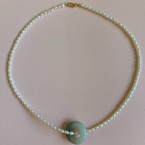 Life is Pearls Choker Necklace