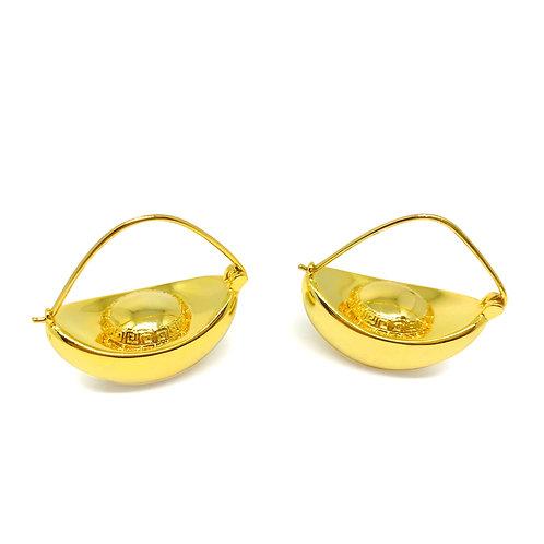 Chinese Gold Ingot Earrings