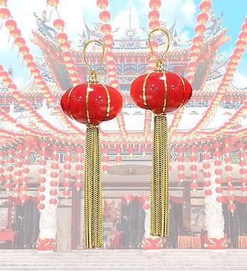 Chinese Red Lantern Earrings.JPG
