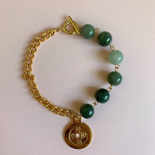 Path to the Coin Jadeite Bracelet