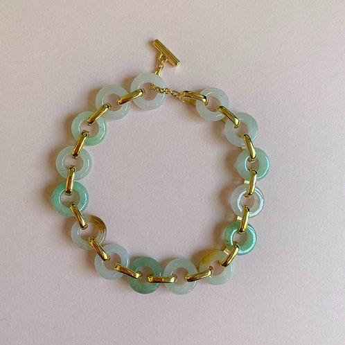 The Summer Ripple Jade Hoops Bracelet