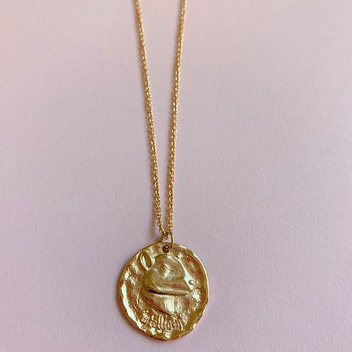 Chinese Zodiac Coin Pendant Chain Necklace - Rat