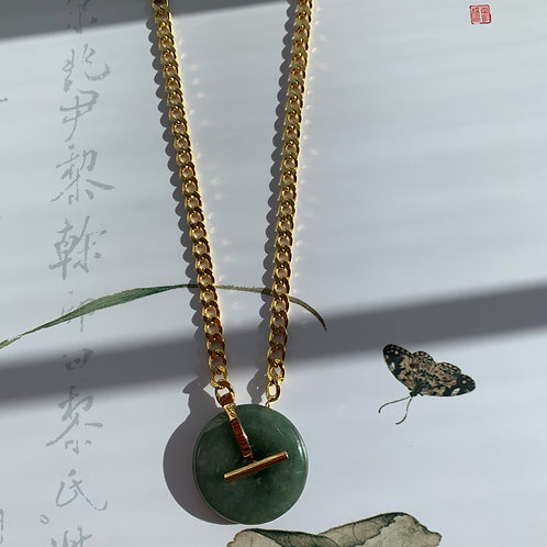 The Safe and Sound Jadeite Chain Necklace