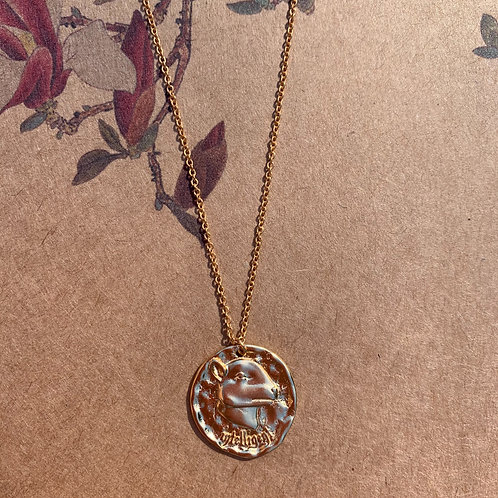Chinese Zodiac Coin Pendant Necklace (Rat)