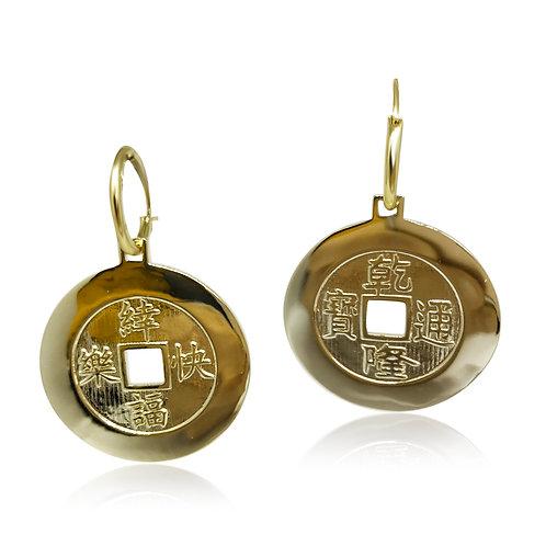 'QianLongTongBao' Coin Earrings