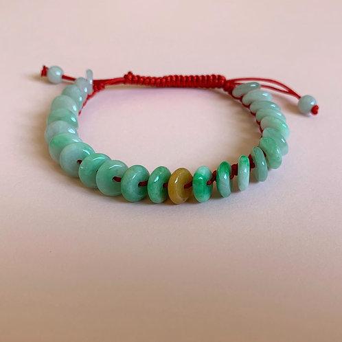 'We Are All Friends Under the Sun' Jade Friendship Bracelet