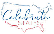 Celebrate States logo map