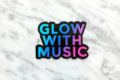Glow With Music Die-Cut Sticker