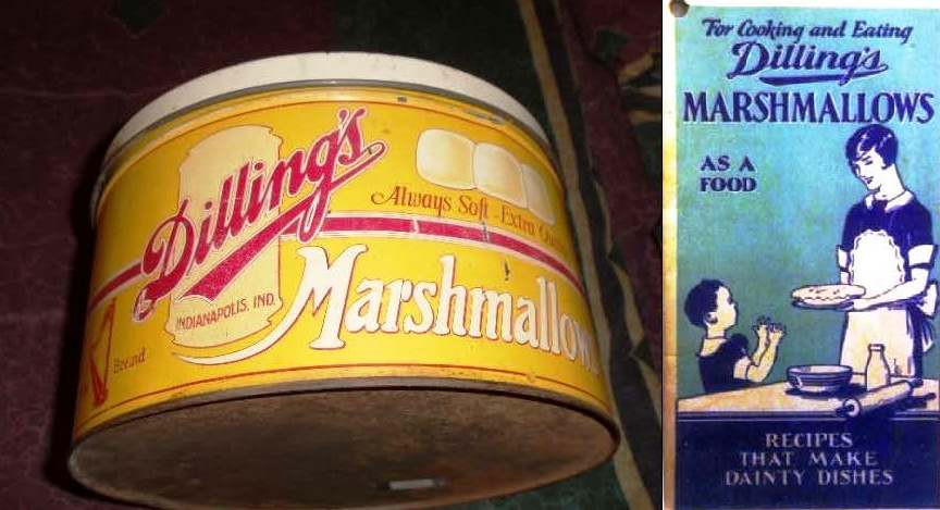 A major manufacturer of marshmallows, Dilling's issued an instructional pamphlet informing housewives that marshmallows could be used as food. As if there were any other use for marshmallows.