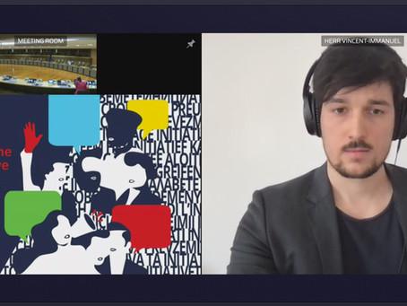 Vincent moderiert Veranstaltung über die Europäische Bürgerinitiative
